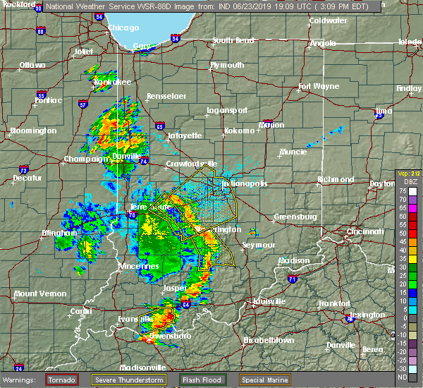 Radar Image for Severe Thunderstorms near Cloverdale, IN at 6/23/2019 3:12 PM EDT