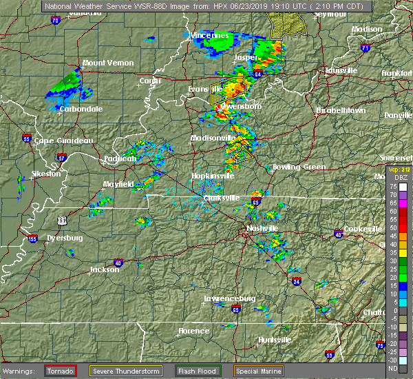 Radar Image for Severe Thunderstorms near Rochester, KY at 6/23/2019 2:16 PM CDT
