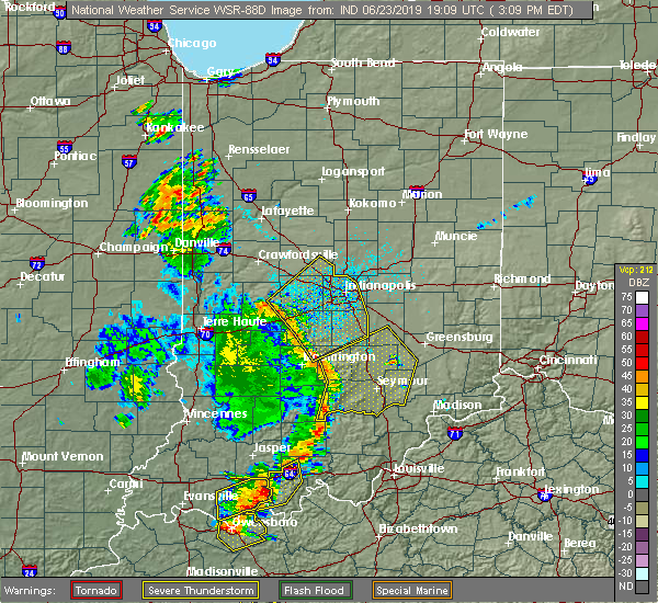 Radar Image for Severe Thunderstorms near Indianapolis, IN at 6/23/2019 3:19 PM EDT