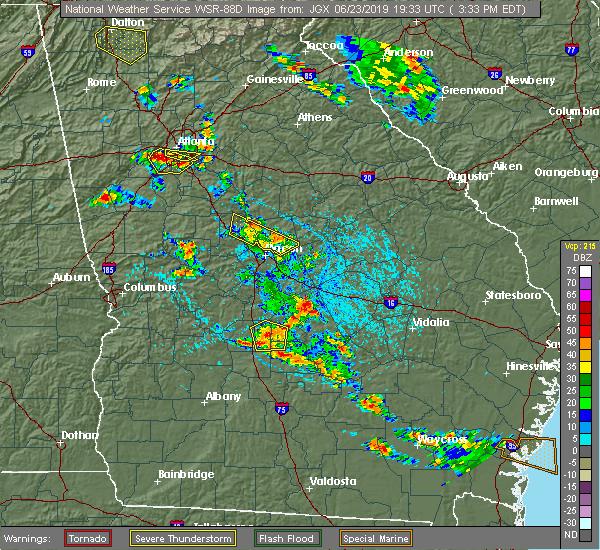 Radar Image for Severe Thunderstorms near Gray, GA at 6/23/2019 3:39 PM EDT