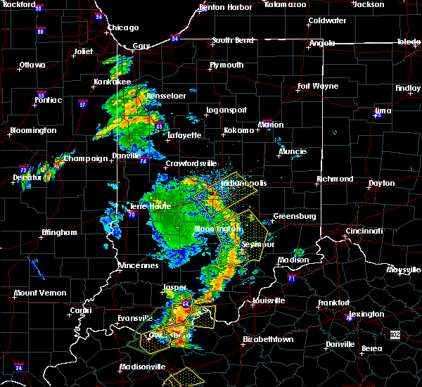 Radar Image for Severe Thunderstorms near Indianapolis, IN at 6/23/2019 3:47 PM EDT