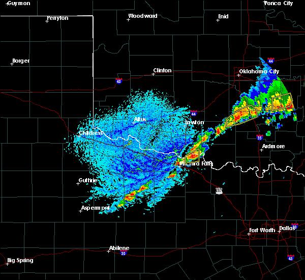 Radar Image for Severe Thunderstorms near Petrolia, TX at 6/23/2019 2:53 PM CDT