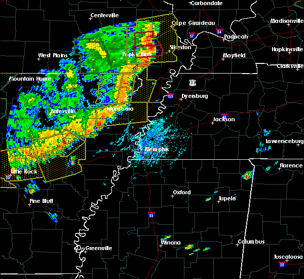 Radar Image for Severe Thunderstorms near Rector, AR at 6/23/2019 3:21 PM CDT