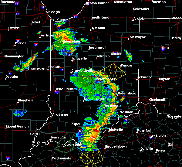 Radar Image for Severe Thunderstorms near Indianapolis, IN at 6/23/2019 4:44 PM EDT
