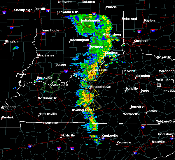 Radar Image for Severe Thunderstorms near Watterson Park, KY at 6/23/2019 4:50 PM EDT