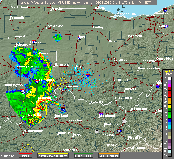 Radar Image for Severe Thunderstorms near Greenhills, OH at 6/23/2019 5:14 PM EDT