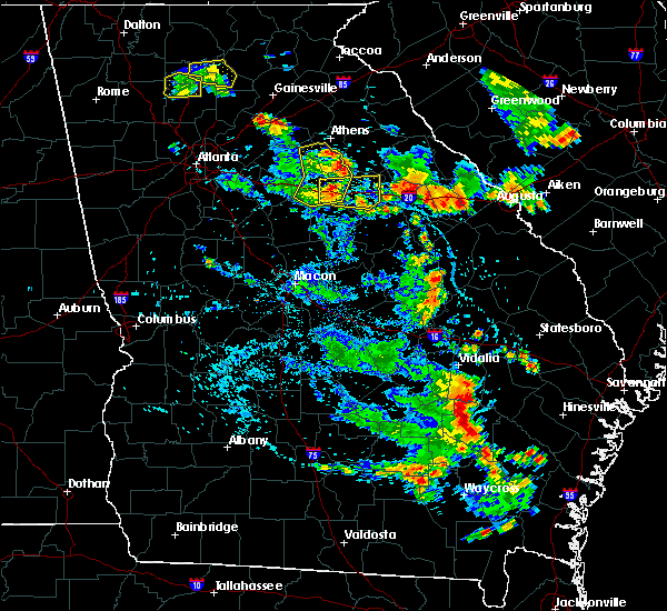 Radar Image for Severe Thunderstorms near Woodville, GA at 6/23/2019 5:26 PM EDT