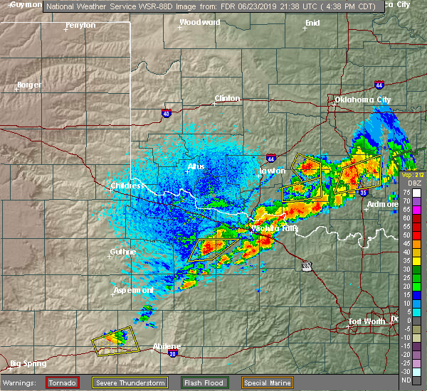 Radar Image for Severe Thunderstorms near Holliday, TX at 6/23/2019 4:42 PM CDT
