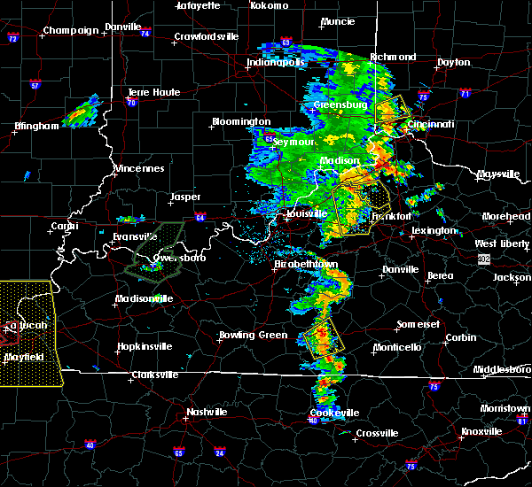 Radar Image for Severe Thunderstorms near Eminence, KY at 6/23/2019 5:47 PM EDT