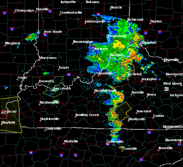 Radar Image for Severe Thunderstorms near Frankfort, KY at 6/23/2019 5:53 PM EDT