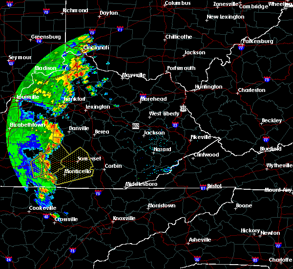 Radar Image for Severe Thunderstorms near Eubank, KY at 6/23/2019 6:06 PM EDT