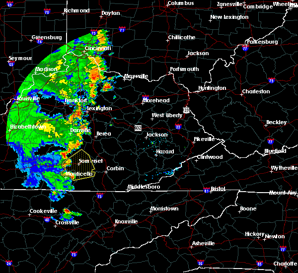Radar Image for Severe Thunderstorms near Eubank, KY at 6/23/2019 6:40 PM EDT