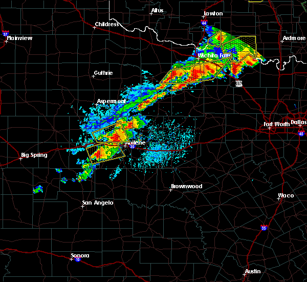 Radar Image for Severe Thunderstorms near Throckmorton, TX at 6/23/2019 5:46 PM CDT