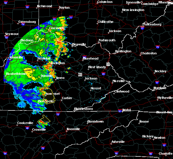 Radar Image for Severe Thunderstorms near Eubank, KY at 6/23/2019 6:54 PM EDT