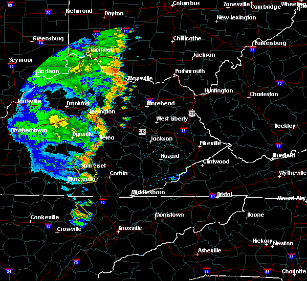 Radar Image for Severe Thunderstorms near Mount Vernon, KY at 6/23/2019 7:07 PM EDT