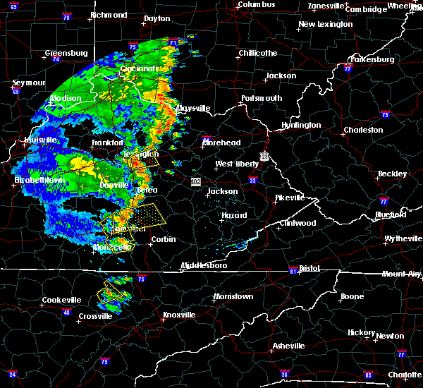 Radar Image for Severe Thunderstorms near Winchester, KY at 6/23/2019 7:15 PM EDT