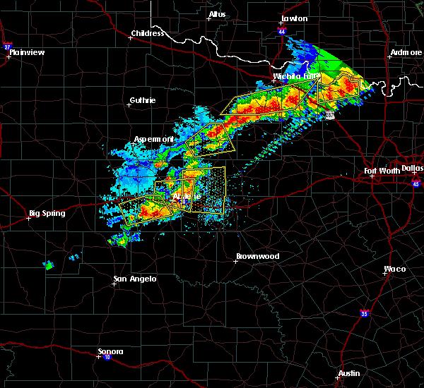 Radar Image for Severe Thunderstorms near Throckmorton, TX at 6/23/2019 6:16 PM CDT