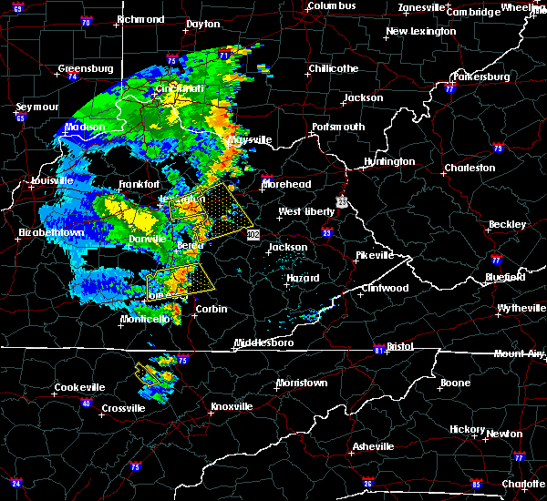 Radar Image for Severe Thunderstorms near Jeffersonville, KY at 6/23/2019 7:24 PM EDT