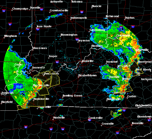 Radar Image for Severe Thunderstorms near Fordsville, KY at 6/23/2019 6:27 PM CDT