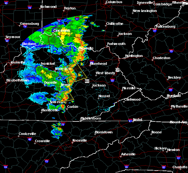 Radar Image for Severe Thunderstorms near Winchester, KY at 6/23/2019 7:35 PM EDT