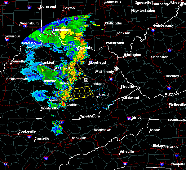 Radar Image for Severe Thunderstorms near Winchester, KY at 6/23/2019 7:39 PM EDT