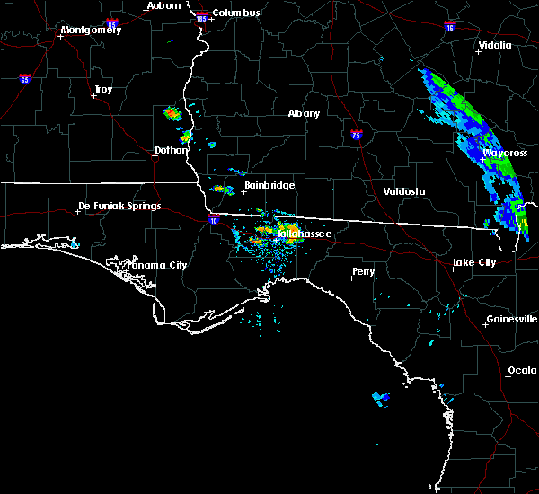 Radar Image for Severe Thunderstorms near Tallahassee, FL at 6/23/2019 7:52 PM EDT