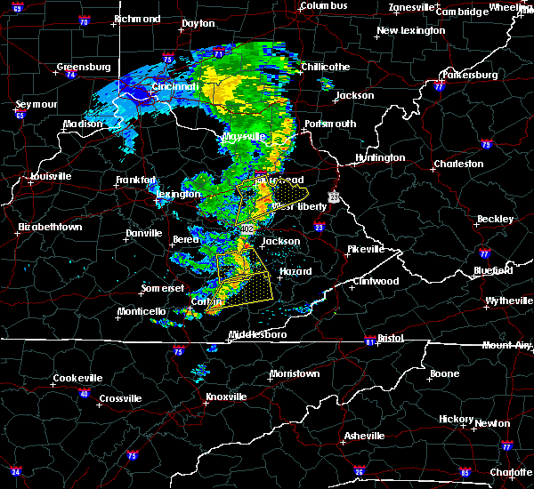 Radar Image for Severe Thunderstorms near Oneida, KY at 6/23/2019 8:25 PM EDT