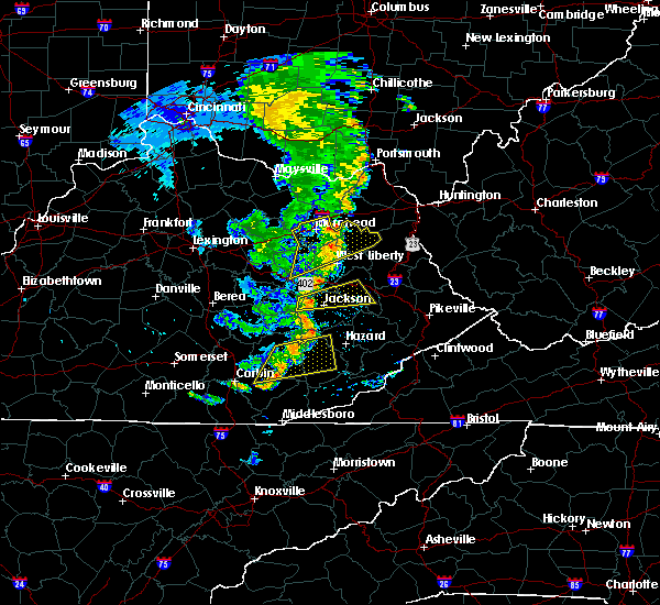 Radar Image for Severe Thunderstorms near Jackson, KY at 6/23/2019 8:33 PM EDT