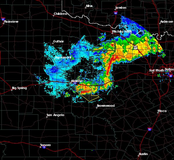 Radar Image for Severe Thunderstorms near Cross Plains, TX at 6/23/2019 7:47 PM CDT