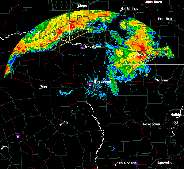 Radar Image for Severe Thunderstorms near Strong, AR at 6/23/2019 8:02 PM CDT