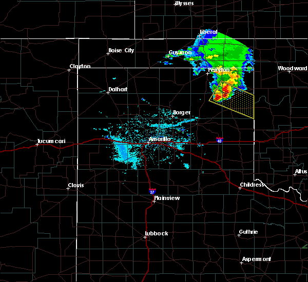 Radar Image for Severe Thunderstorms near Canadian, TX at 6/23/2019 8:38 PM CDT