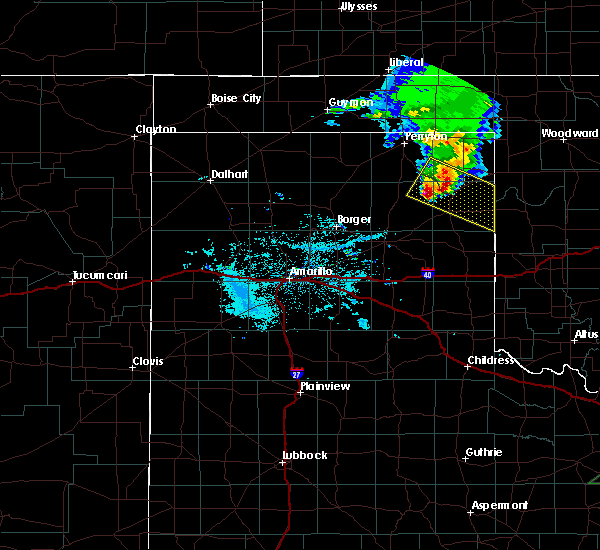 Radar Image for Severe Thunderstorms near Canadian, TX at 6/23/2019 8:44 PM CDT
