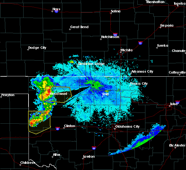 Radar Image for Severe Thunderstorms near Woodward, OK at 6/23/2019 9:48 PM CDT
