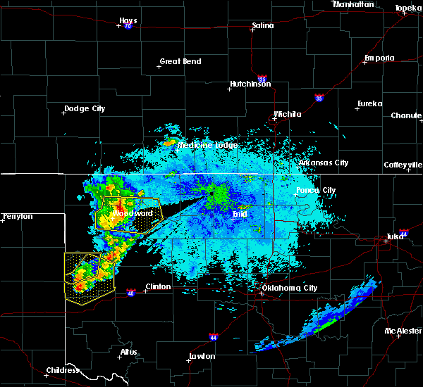 Radar Image for Severe Thunderstorms near Woodward, OK at 6/23/2019 9:58 PM CDT
