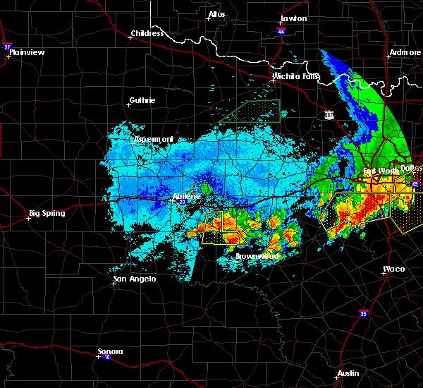 Radar Image for Severe Thunderstorms near Cross Plains, TX at 6/23/2019 10:00 PM CDT