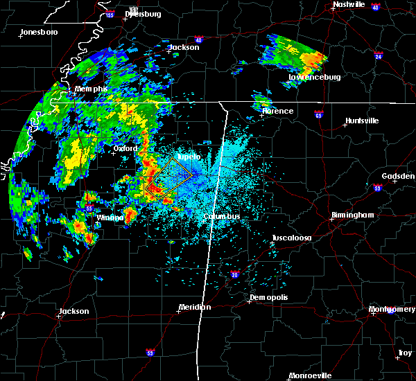 Radar Image for Severe Thunderstorms near Shannon, MS at 6/23/2019 10:07 PM CDT