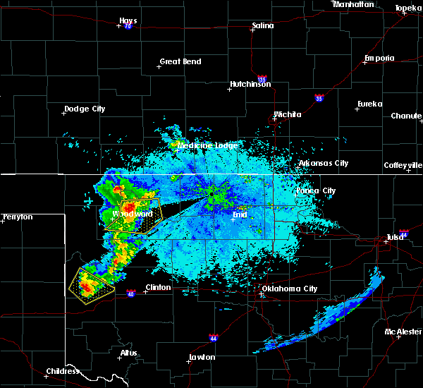 Radar Image for Severe Thunderstorms near Waynoka, OK at 6/23/2019 10:09 PM CDT