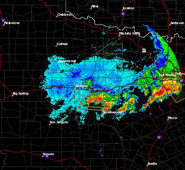 Radar Image for Severe Thunderstorms near Cross Plains, TX at 6/23/2019 10:13 PM CDT