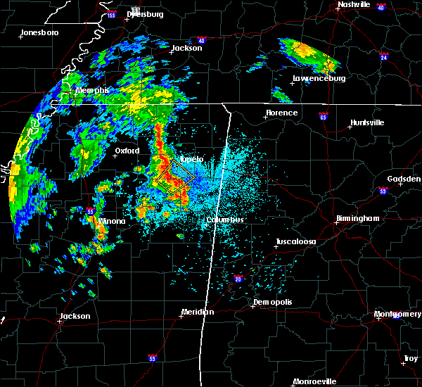 Radar Image for Severe Thunderstorms near Shannon, MS at 6/23/2019 10:29 PM CDT