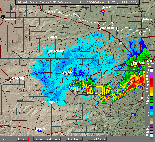 Interactive Hail Maps - Hail Map for Brownwood, TX on
