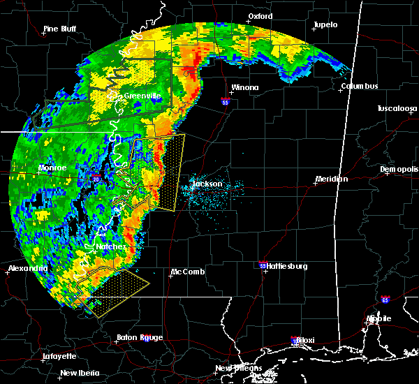 Radar Image for Severe Thunderstorms near Flowood, MS at 6/24/2019 3:50 AM CDT