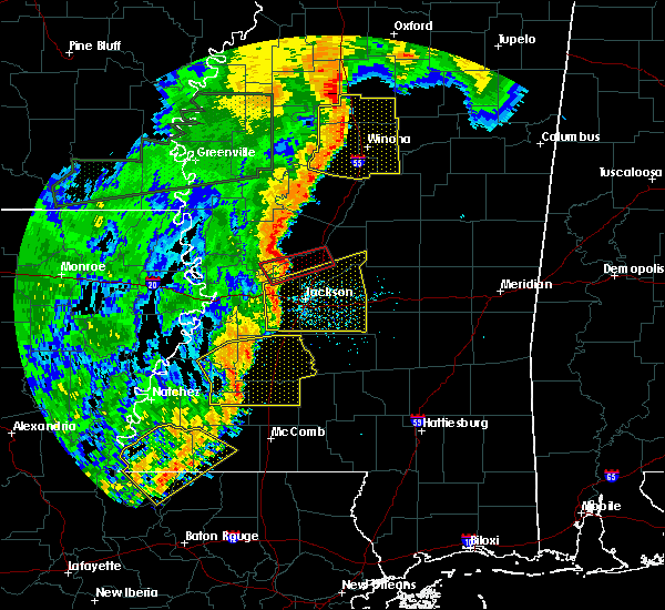 Radar Image for Severe Thunderstorms near Flowood, MS at 6/24/2019 4:13 AM CDT