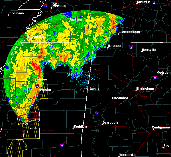 Radar Image for Severe Thunderstorms near Winona, MS at 6/24/2019 4:33 AM CDT