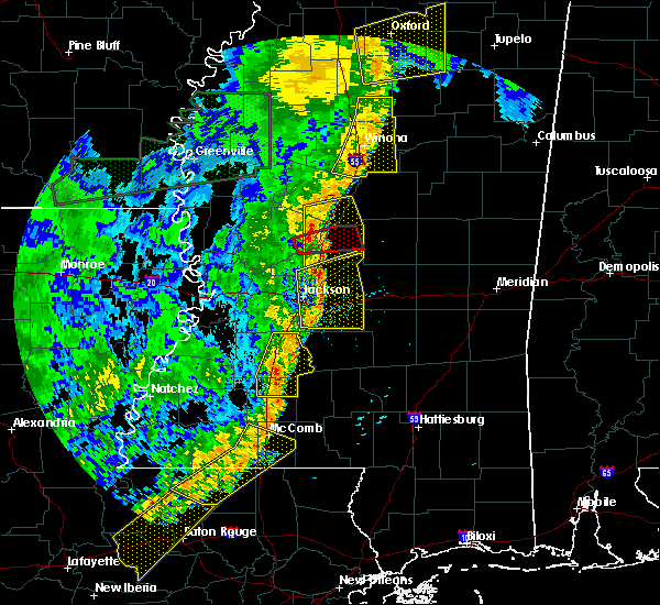Radar Image for Severe Thunderstorms near Flowood, MS at 6/24/2019 4:44 AM CDT