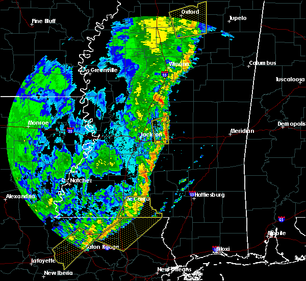 Radar Image for Severe Thunderstorms near New Hebron, MS at 6/24/2019 5:16 AM CDT