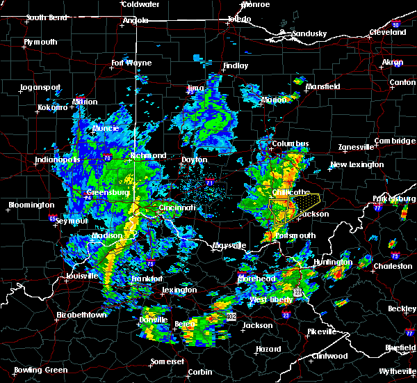 Radar Image for Severe Thunderstorms near Logan, OH at 6/24/2019 3:31 PM EDT