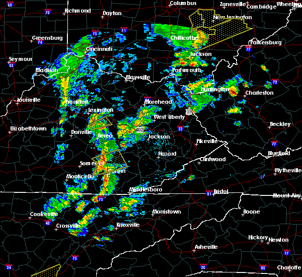 Radar Image for Severe Thunderstorms near London, KY at 6/24/2019 4:04 PM EDT