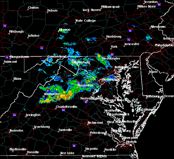 Radar Image for Severe Thunderstorms near Grottoes, VA at 6/24/2019 4:04 PM EDT