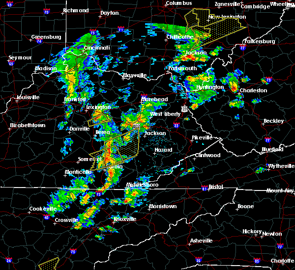 Radar Image for Severe Thunderstorms near McKee, KY at 6/24/2019 4:13 PM EDT