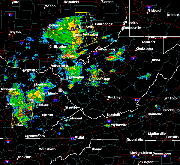 Radar Image for Severe Thunderstorms near Shawnee, OH at 6/24/2019 4:30 PM EDT